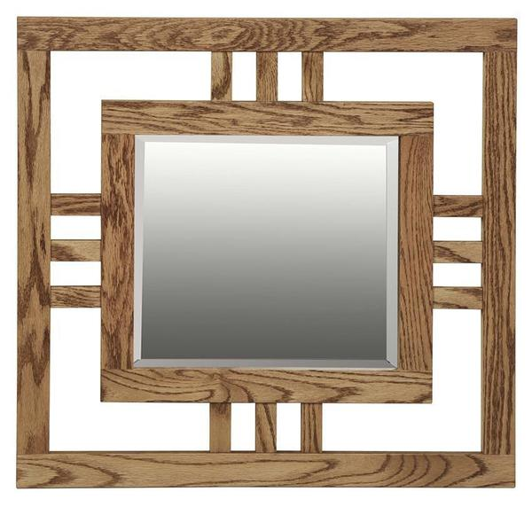 Amish Hardwood Small Modern Mission Mirror