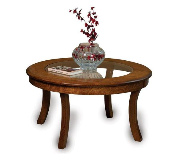 Amish Carlisle Glass-Top Coffee Table