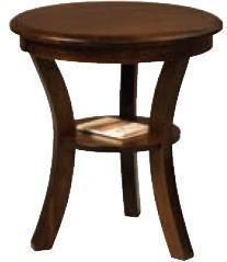 "Amish Old Classic Sleigh 22"" Round End Table"