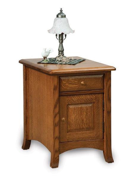 Amish Carlisle Enclosed End Table with Drawer and Door