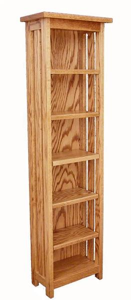 Amish Hardwood Mission CD or Media Rack with Five Adjustable Shelves