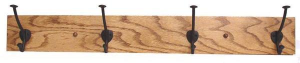 Amish Oak Wood Mission Coat Rack