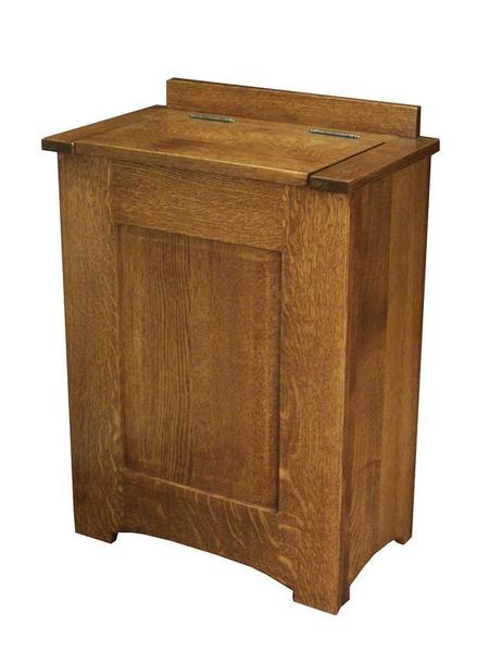 Amish Hardwood Mission Laundry Hamper