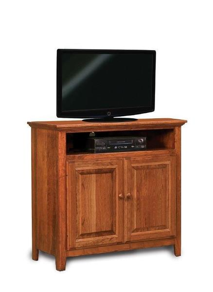 Amish Shaker Two Doors LCD Stand