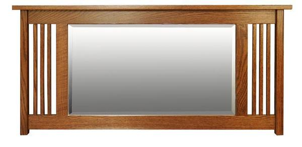Amish Hardwood Large Landmark Mission Mirror