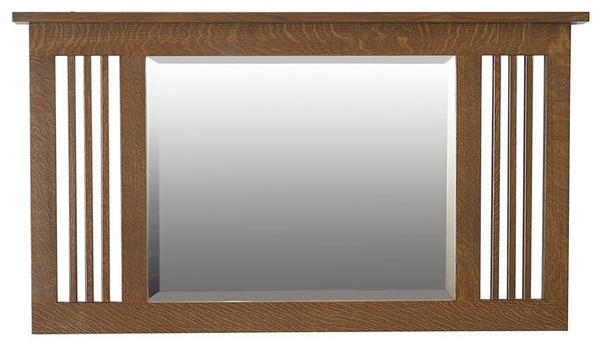 Amish Hardwood Medium Landmark Mission Mirror