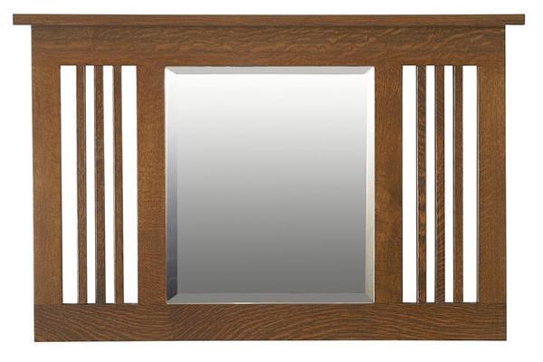 Amish Hardwood Small Landmark Mission Mirror