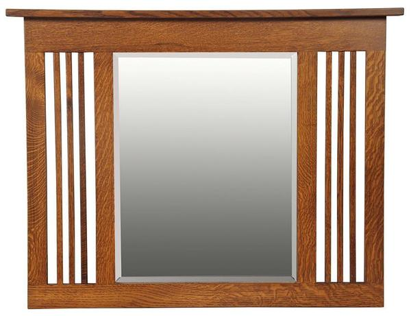 Amish Hardwood Upright Landmark Mission Mirror