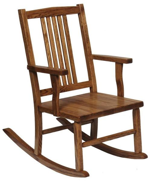Amish Oak Wood Mission Youth Rocker