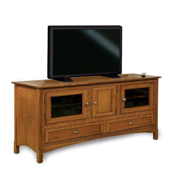 "Amish West Lake 60"" TV Stand with Three Doors"