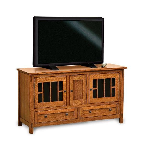 "Amish Centennial 36"" High LCD Stand with Three Doors and Two Drawers"