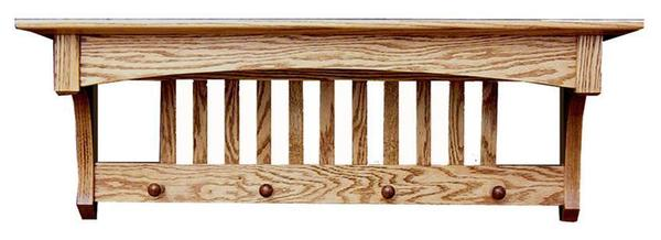 Amish Hardwood Deluxe Mission Shelf
