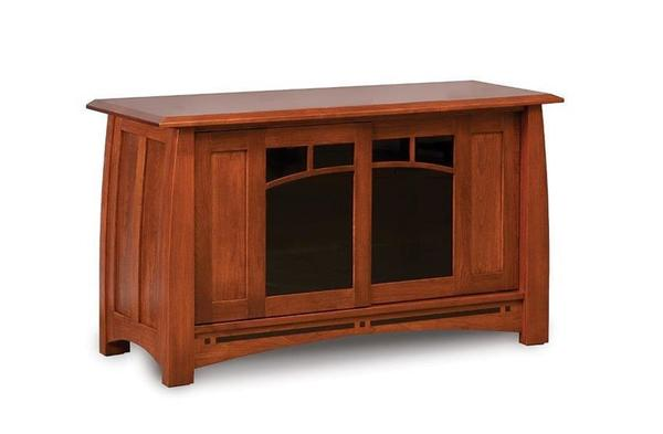 Amish Boulder Creek Mission TV Stand with Two Doors
