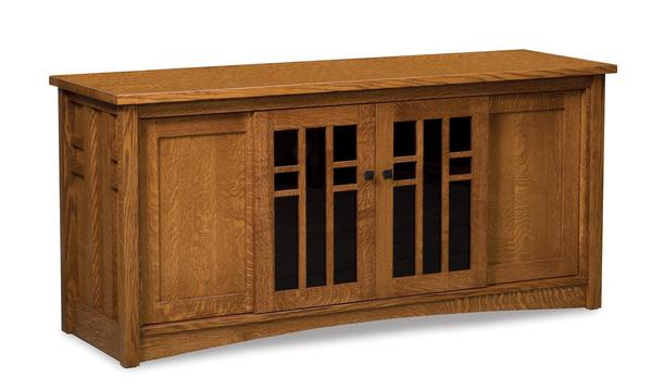 Amish Kascade Mission TV Stand with Four Doors