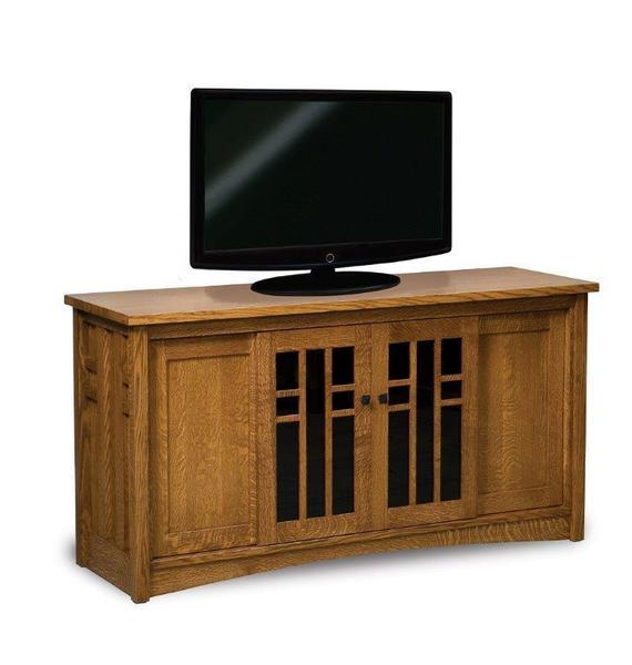 "Amish Kascade 63"" TV Stand with Four Doors"