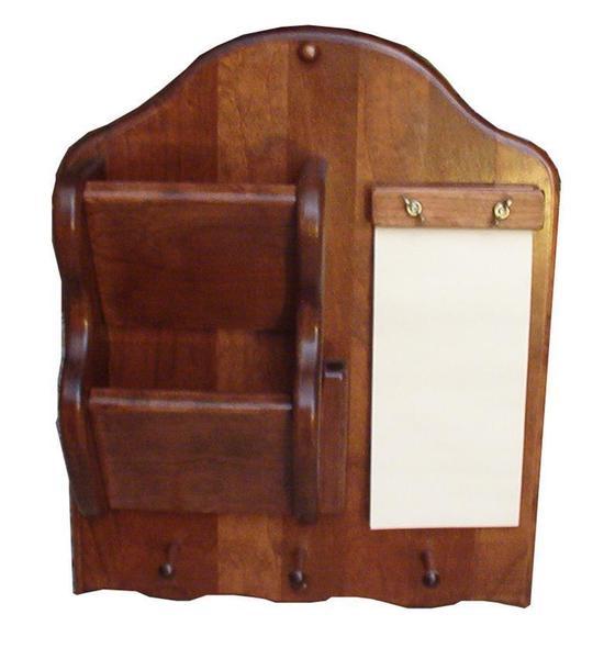 Amish Hardwood Letter Holder with Notepad