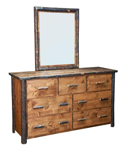 Amish Rustic Bear Lodge Dresser with Optional Mirror