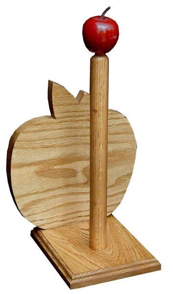 Amish Large Oak Paper Towel Holder With Le Top