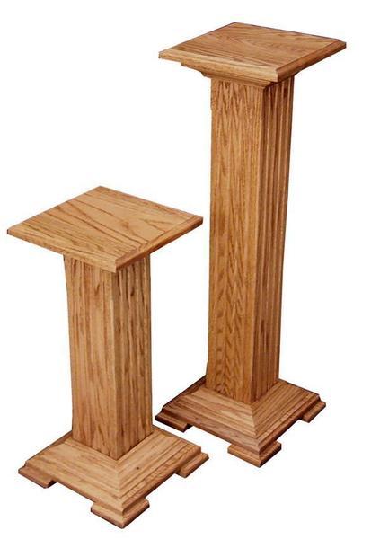 Amish Hardwood Pedestal Plant Stand