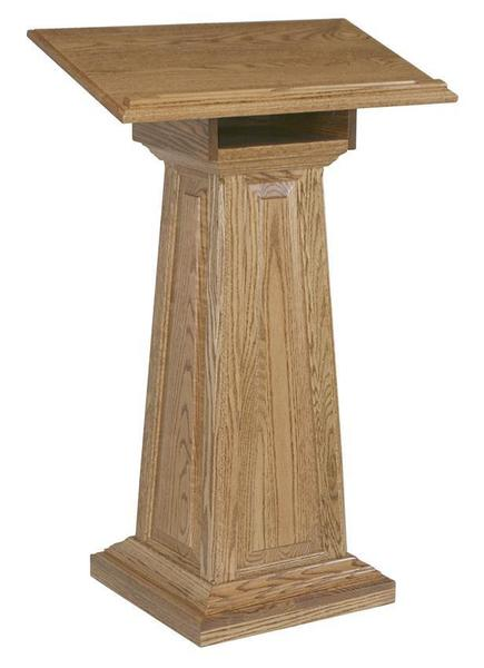 Amish Hardwood Large Raised Panel Podium