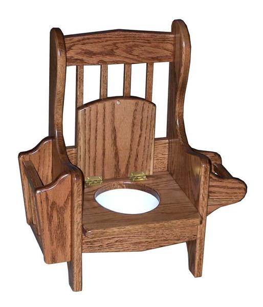 Amish Oak Wood Mission Potty Chair
