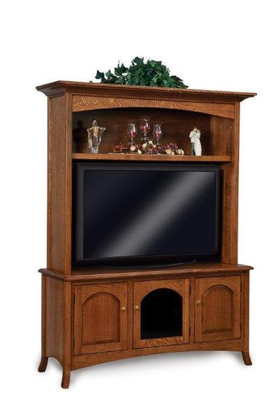 Amish Carlisle Hutch Entertainment Center