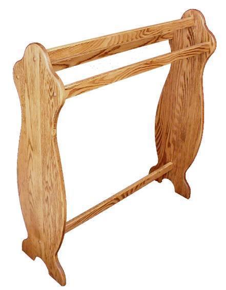Amish Hardwood Medium Plain Quilt Rack