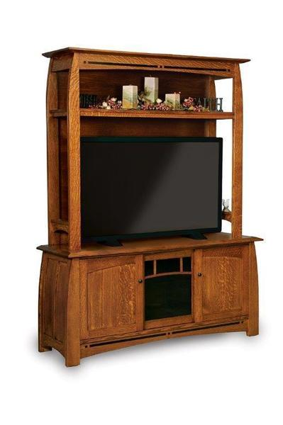Amish Boulder Creek Mission Hutch Entertainment Center