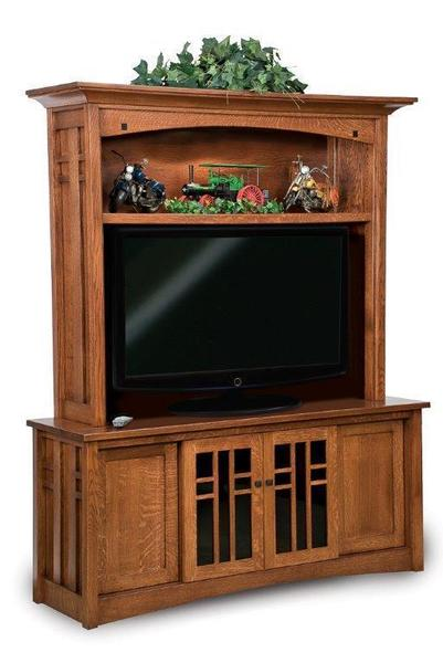 Amish Kascade Mission Hutch Entertainment Center