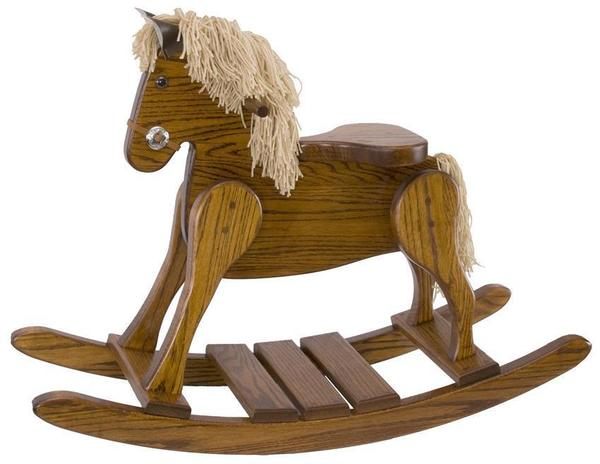Amish Hardwood Small Deluxe Rocking Horse