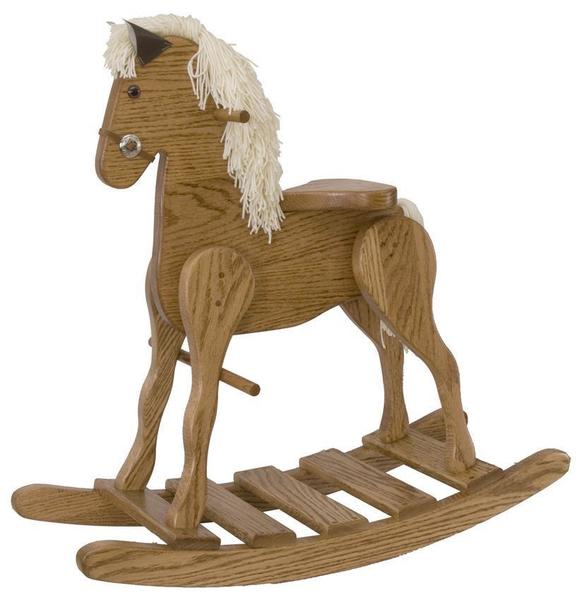 Amish Oak Wood Medium Rocking Horse