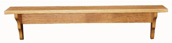 Amish Oak Wood Plain Shelf