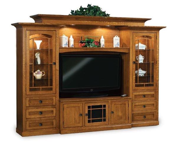 Amish Manhattan Mission Classic Entertainment Center