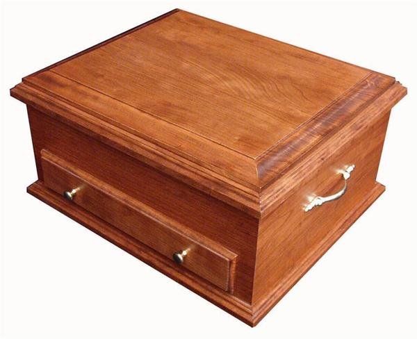 Amish Hardwood Silverware Chest with Plain Lid