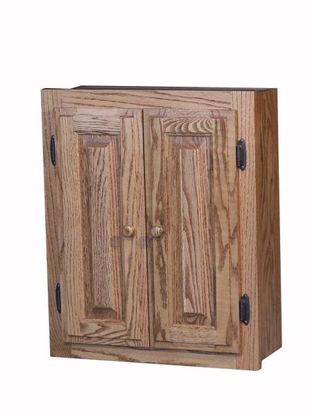 American Made Oak Spice Cabinet with Raised Panel Doors