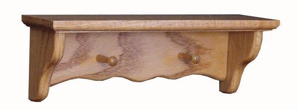 Amish Oak Wood Spice Shelf