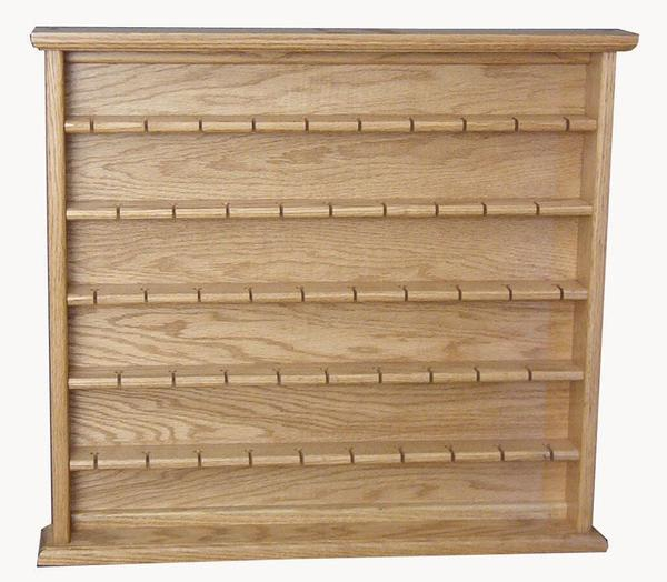 Amish Oak Large Spoon Rack Display Case