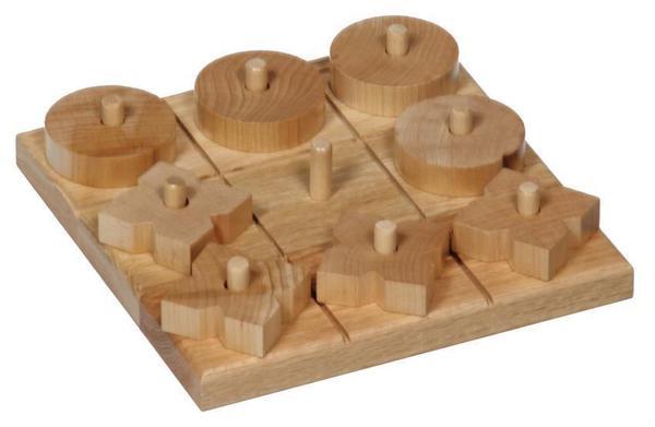 Amish Oak Wood Tic Tac Toe Game