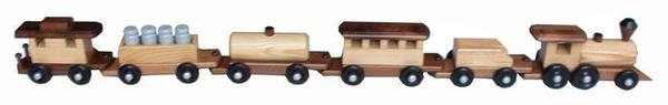 Amish Ash Wood Medium Train Set
