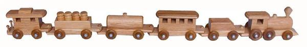 Amish Oak Wood Medium Train Set