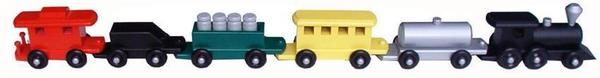 Amish Medium Painted Train Set
