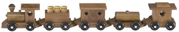 Amish Classic Walnut Wood Toy Train 5 Pieces