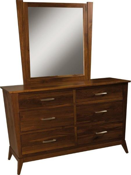 Amish Metro 6-Drawer Dresser with Optional Deluxe Mirror