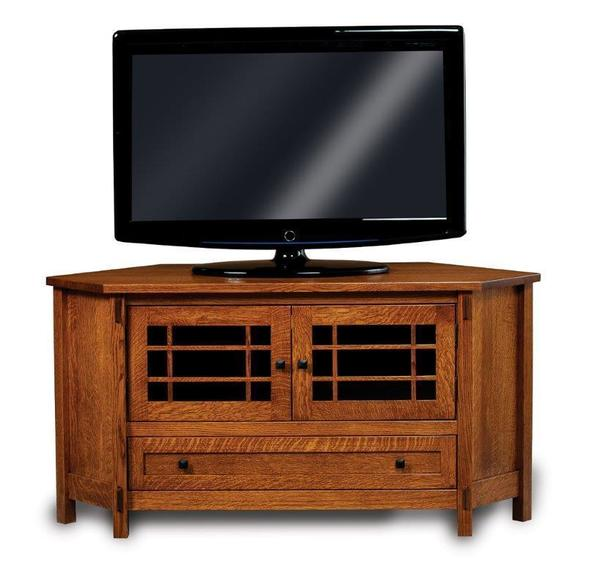 Amish Centennial Mission Corner TV Stand