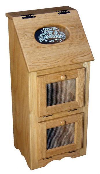 Amish Hardwood Veggie Bin with Screen Doors