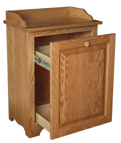 Wood Slideout Kitchen Trash Can Bin