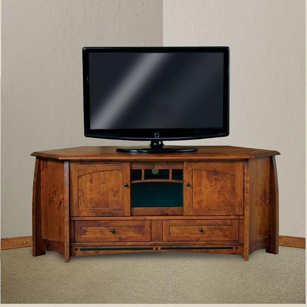 Amish Boulder Creek Mission Corner TV Stand