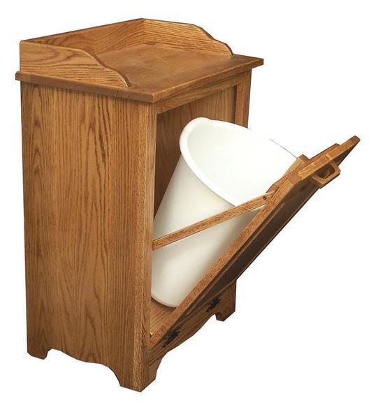 Amish Hardwood Tilt-out Waste Bin