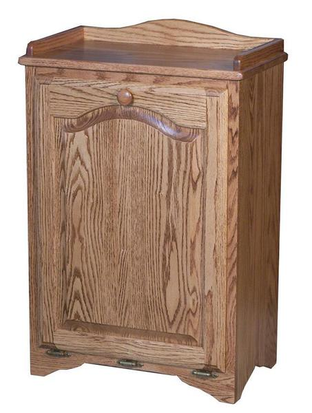 Oak Tall Tilt-out Waste Bin with Raised Panel Door
