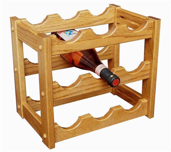 Amish Hardwood Small Wine Rack